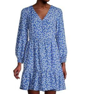 Eliza J Floral Print Mini Dress Blue Size 12.
